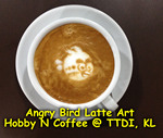Latte Art - Angry Bird