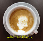 Latte Art - Bart Simpsons