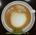 Latte Art - Boring old apple