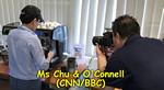 Ms Chu featured on CNN/BBC