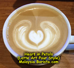 Heart in Petals - Latte Art