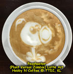 Latte Art - PeaShooter (PvZ)