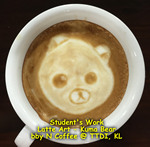 Latte Art - Kuma Bear