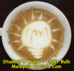 Latte Art - Light Bulb