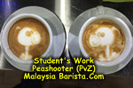 Latte Art - Peashooter PvZ