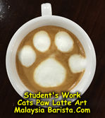 Latte Art - Cats paw