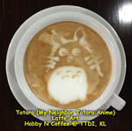 Latte Art - Totoro the cat