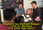 Tv3 Jalan Jalan Cari Makan with host Naz (Nazrudin Rahman) featuring Stephen Yong (Malaysia Barista) on Latte Art Workshop.